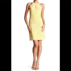 Vince Camuto Yellow Patterned Tank Mini Dress 8